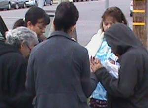 Praying with a mother outside FPA abortion chamber
