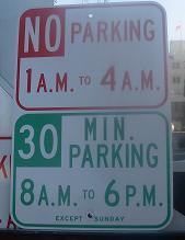 New parking signs about to be erected outside FPA.