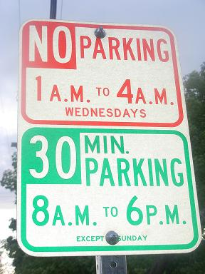New parking signs erected on May 31